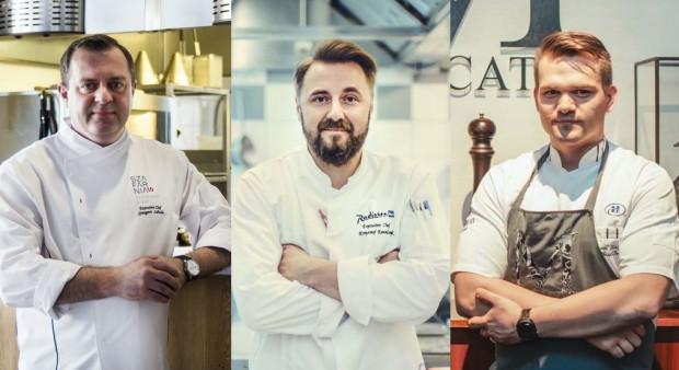 Grzegorz Labuda z Szafarni 10, Krzysztof Kowalczyk z Brasserie de Verres en Vers i Paweł Stawicki z Mercato.