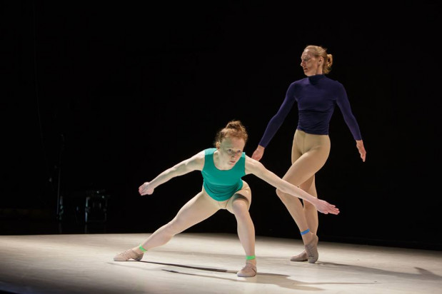 """Konceptualny, minimalistyczny i niezwykle precyzyjny jest """"Counterpoint"""" kolektywu Rita Gobi - Andrea Miltnerová - Jan Komárek, inspirowany ruchem owadów (tańczą dwie pierwsze)."""