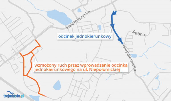 Poranne korki wywołane ruchem jednokierunkowym na ulicy Niepołomickiej.