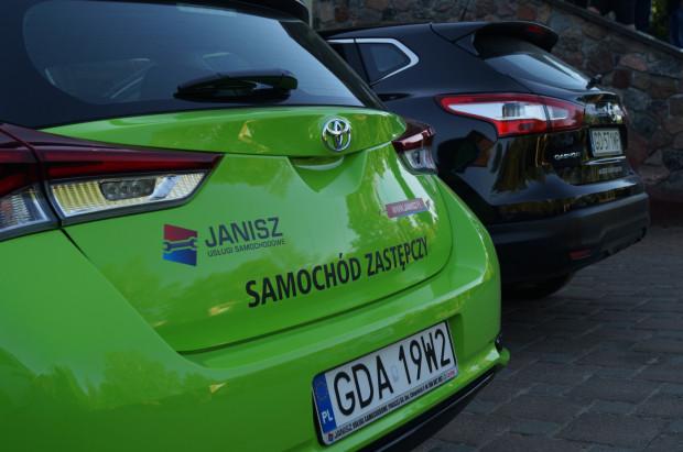 Flota zastępczych aut Grupy Janisz.