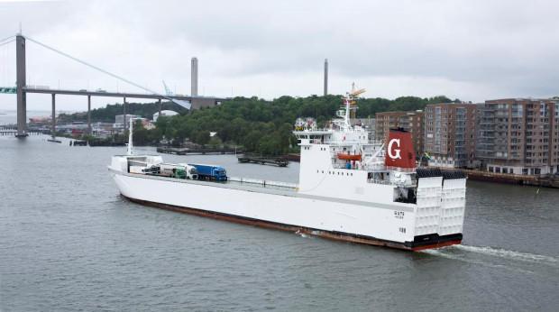 M/v Gute ma 138 m długości i 16 m szerokości.