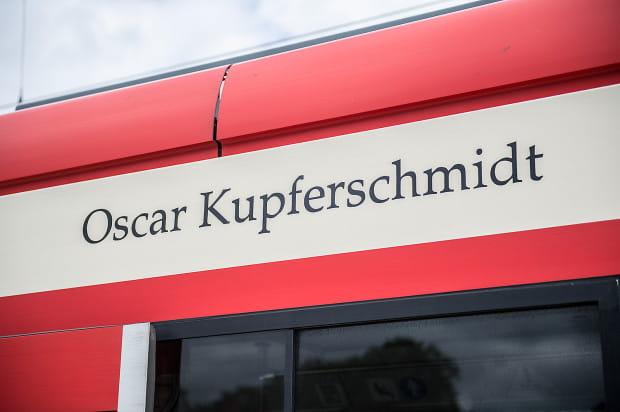Oscar Kupferschmidt jest patronem tramwaju Bombardier o numerze bocznym 1005.