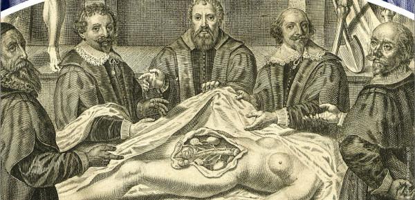 Rycina przedstawiająca sekcję zwłok w czasach Joachima Oelhafa.
