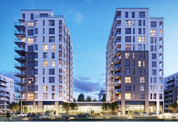 Wizualizacja kolejnego etapu osiedla Robyg, które powstaje w oparciu o warunki zabudowy.