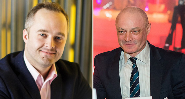 Na zdjęciu po lewej odchodzący prezes zarządu Arena Gdańsk Operator Sp. z o.o. Tomasz Kowalski, a po prawej Tomasz Niski, czyli nowy prezes wspomnianej spółki.