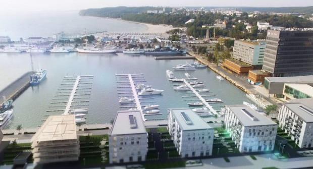 Pierwszy etap inwestycji PHN obejmie budowę sześciu budynków mieszkalnych oraz mariny.