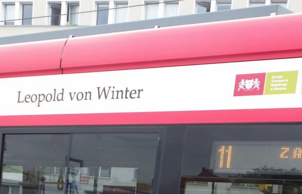 Leopold von Winter jest patronem tramwaju o numerze taborowym 1006