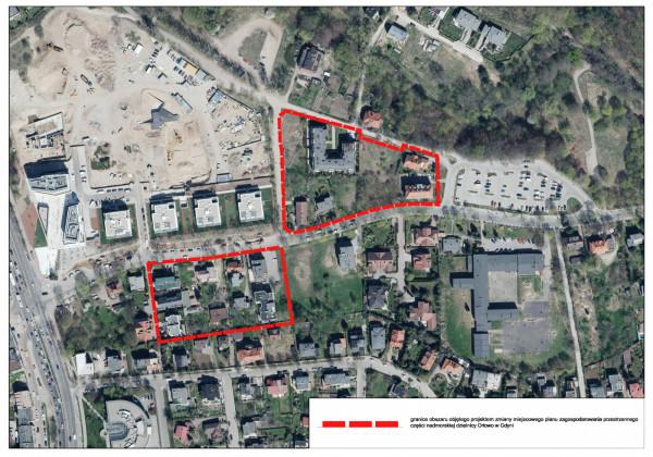 Plan, z którym obecnie można się zapoznać dotyczy dwóch obszarów przylegających do ulicy Orłowskiej.
