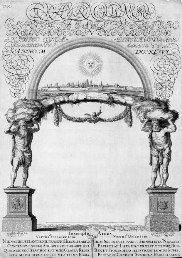 Łuk triumfalny z panoramą Gdańska, 1646 r.