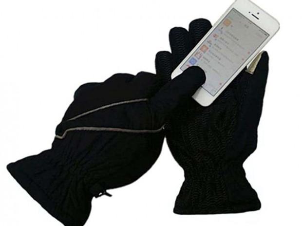 Długie rękawiczki rowerowe stworzone do użycia urządzeń z ekranami dotykowymi
