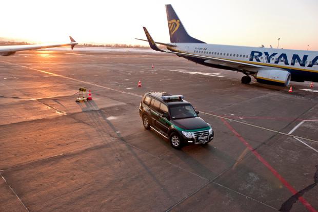 To już 23. w tym roku interwencja Straży Granicznej na lotnisku w Rębiechowie.