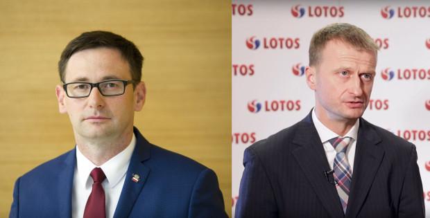 Menadżerowie z Energi (Daniel Obajtek, z lewej), jak i Lotosu (Marcin Jastrzębski) w 2017 roku będą mogli otrzymać wynagrodzenie w maksymalnej wysokości 1,6 mln zł - przy założeniu, że zrealizują cele premiowe.