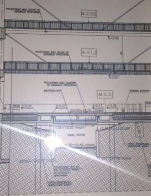 Fragment projektu pokazujący zakrycie kanału Raduni betonowymi płytami ujawniony przez FRAG.