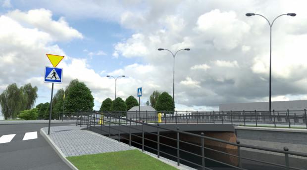 Planowany most na Kanale Raduni w ciągu ul. Starogardzkiej.