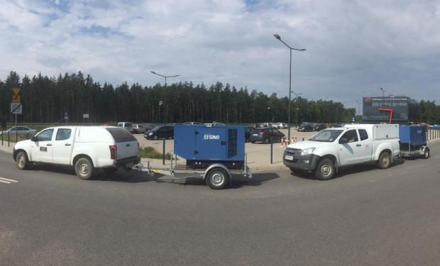 Pomorska Kolej Metropolitalna wysłała do sołectw Rytel i Lotyń dwa agregaty prądotwórcze.