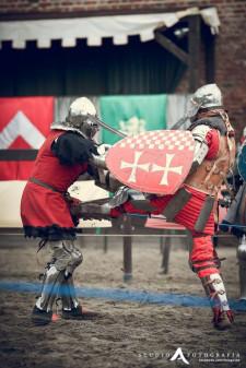 Podczas walk rycerskich dopuszczalne będą uderzenia rantem tarczy, rzuty zapaśnicze czy kopniaki.