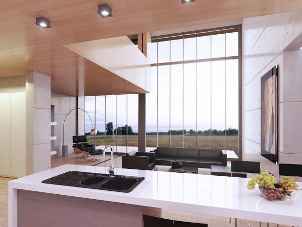 Duże okna sprawiają, że wnętrze staje się o wiele bardziej przestronne.