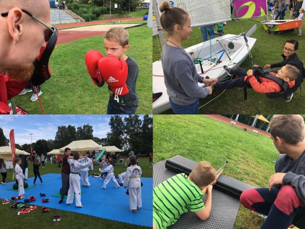 Boks, żeglarstwo, taekwondo i biathlon - to tylko cztery z 46 dyscyplin, w których swoich sił spróbować mogli najmłodsi.