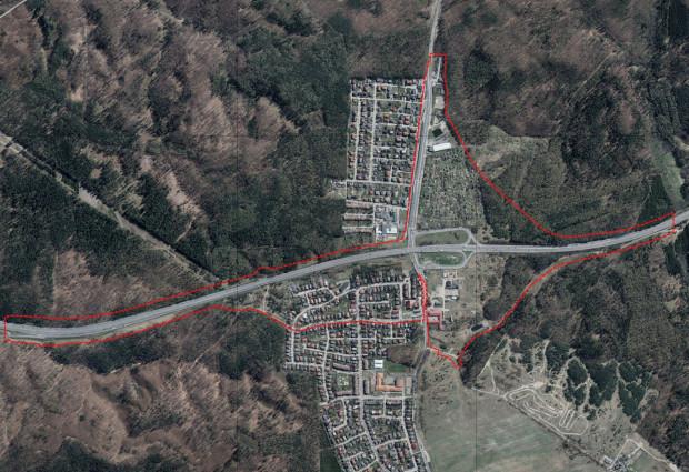 Granice obszaru objętego projektem miejscowego planu zagospodarowania przestrzennego części dzielnicy Chwarzno-Wiczlino w Gdyni.