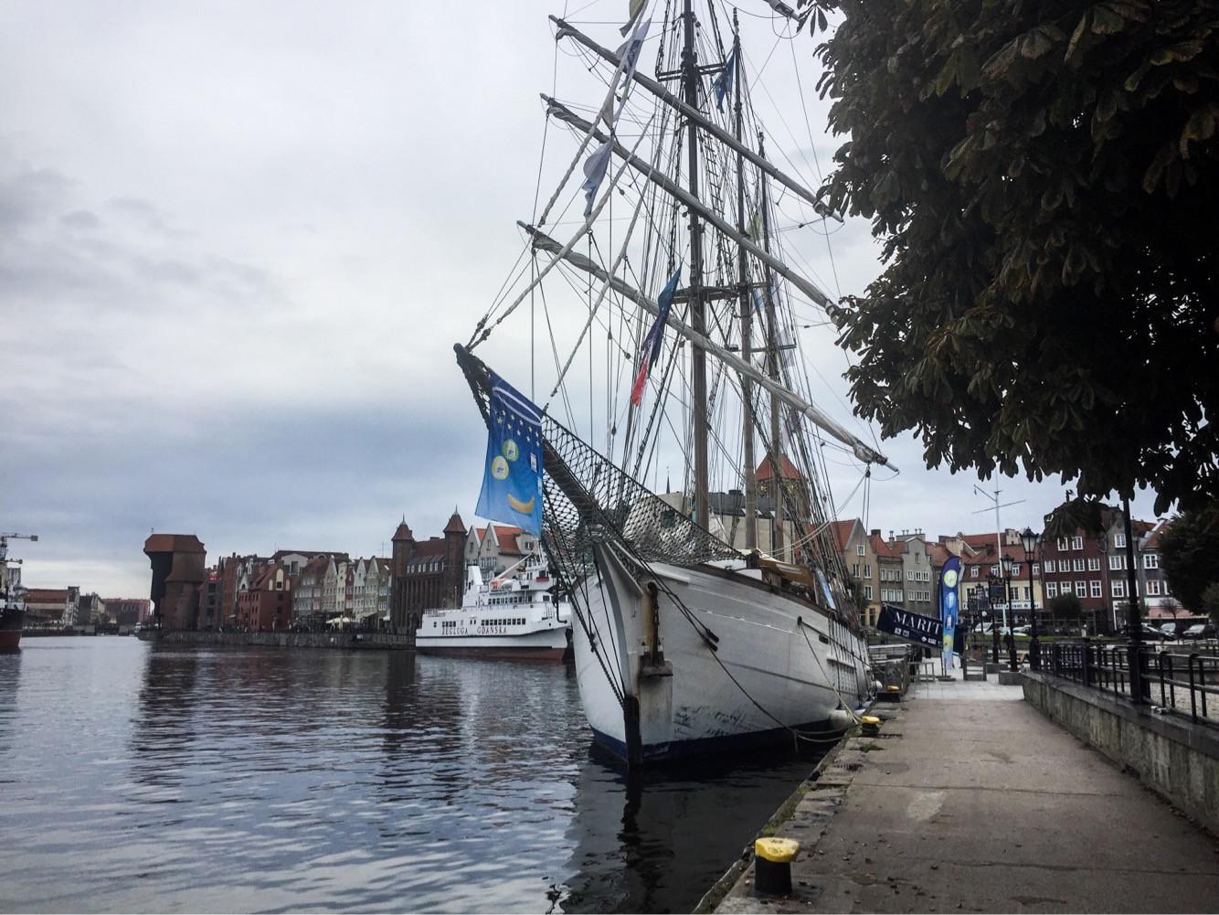 Почти столетний французский парусник пришвартовался в Гданьске. Бесплатное посещение с пятницы до вторника