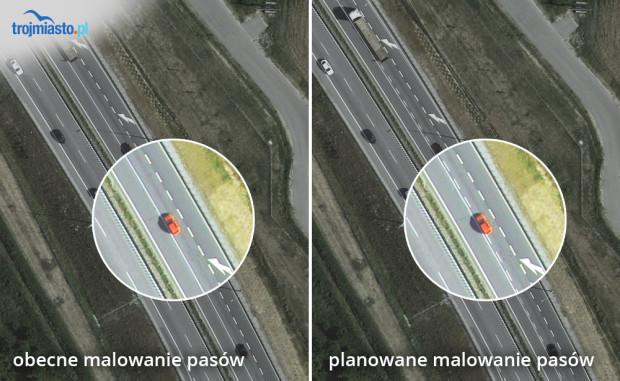 Planowana zmiana na węźle Matarnia i Gdańsk Południe.