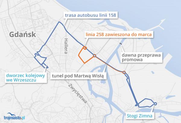 Zwłaszcza dla mieszkańców Nowego Portu likwidacja promu wciążjest uciążliwa, odcinając dzielnicęod Portu Północnego. To nie ułatwia jej rewitalizacji.