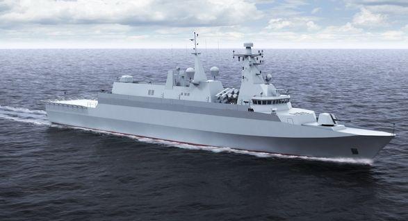 Okręt obrony wybrzeża typu Miecznik.