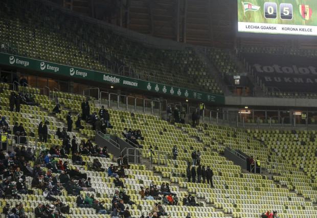 Najwyższa porażka Lechii, najmniej kibiców w historii Stadionu Energi Gdańsk.
