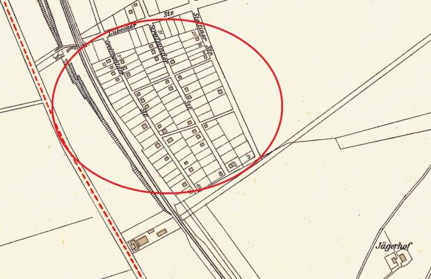 """""""Mała Warszawa"""" widoczna na planie Gdańska z 1933 r. Dziś to ulice Słupska, Arkońska i Szczecińska na Małym Przymorzu."""