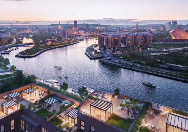 Wynajmujący będą mieli widok na Motławę oraz Główne i Stare Miasto