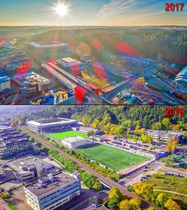Tak zmieniło się otoczenie, w którym powstał przystanek PKM Gdynia Stadion.