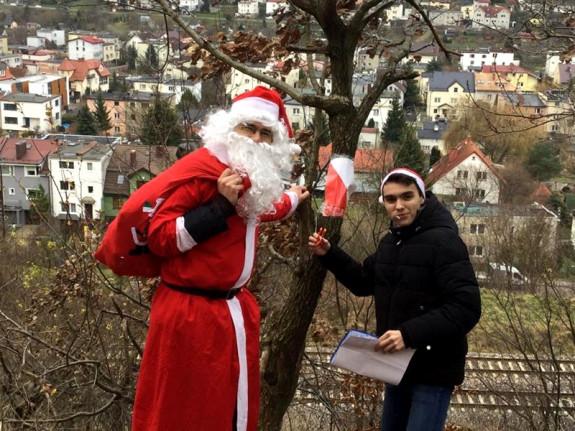 Na trasach rodzinnych można było spotkać świętego Mikołaja