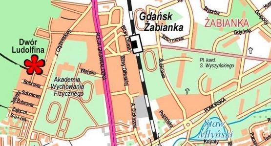 Mapa opracowana na podstwaie planu trójmiasta wyd.Eko-Kapio