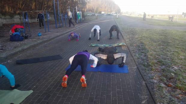 Ćwiczenia podczas Aktywnej Niedzieli.