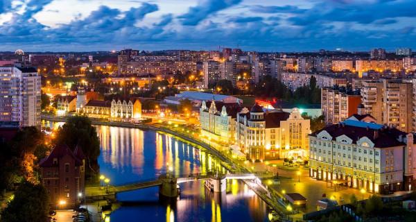 W Kaliningradzie mieszka mniej więcej tyle samo osób co w Gdańsku.
