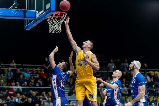 W nadchodzącym tygodniu koszykarze Asseco Gdynia zmierzą się z AZS Koszalin i Miastem Szkła Krosno. Na zdj Dariusz Wyka.