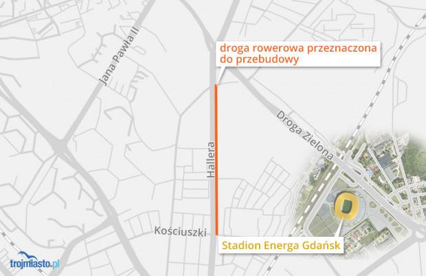 W sumie przebudowany zostanie odcinek o długości 1,3 km.
