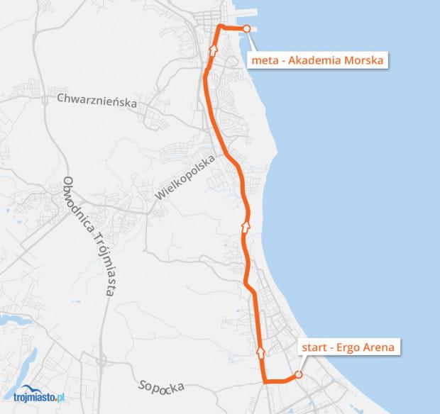 Orkiestrowe Mikołaje na rowerach wyruszą w niedzielę 14 stycznia w samo południe spod Ergo Areny, kierując się w stronę mety wyznaczonej przy Wydziale Nawigacji Akademii Morskiej.