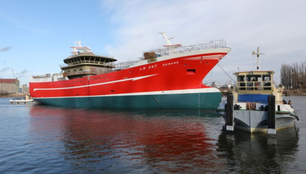 Serene to jeden z większych statków rybackich budowanych obecnie w SR Nauta.
