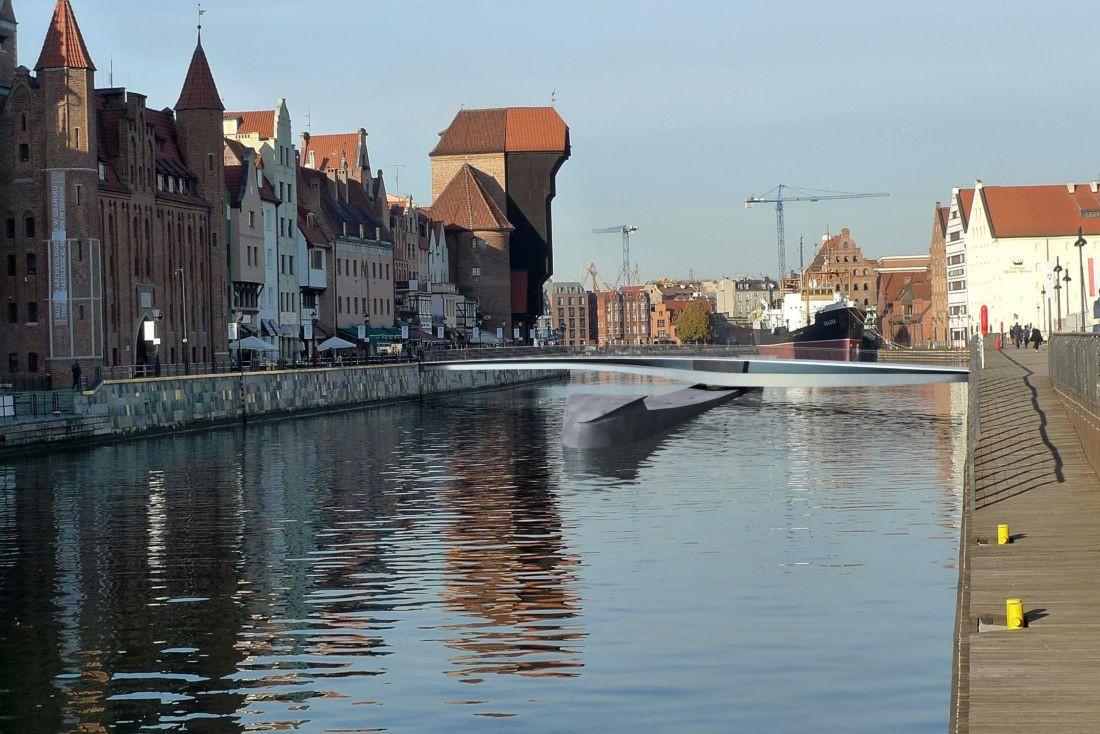 В старом городе Гданьска построят еще один передвижной пешеходный мост