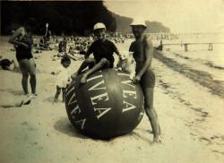 Niezidentyfikowana rosyjska rodzina z Gdańska na jednej z plaż WMG. Rok 1929.