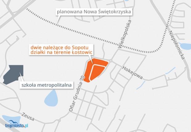 Dwie sopockie działki w Gdańsku, zostały wystawione na sprzedaż.