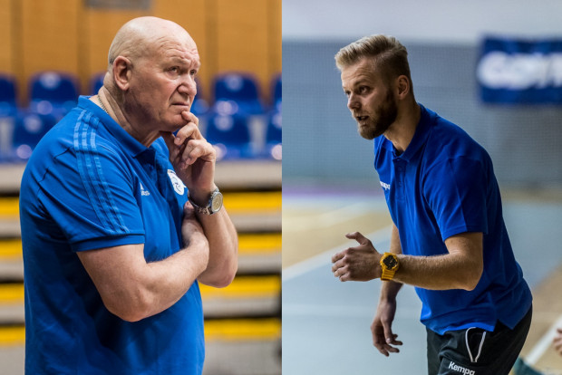 Marcin Markuszewski (z prawej) zastąpił Giennadija Kamielina na stanowisku trenera GTPR Gdynia