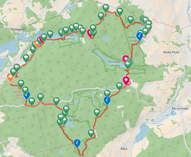 Kliknij na mapę i zobacz dokładny przebieg trasy / ściągnij ślad GPS
