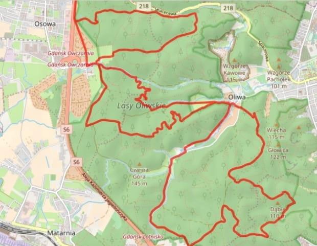 Kliknij na mapę i prześledź dokładny przebieg trasy