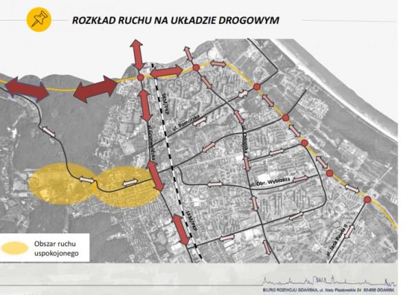 Rozkład ruchu po realizacji nowego układu drogowego (analiza z 2016 r.).