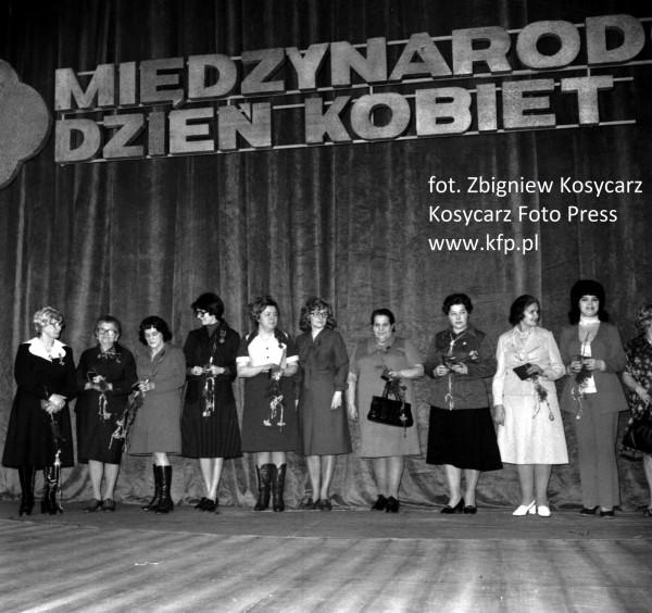 Akademia z okazji Dnia Kobiet. Marzec 1977 roku.