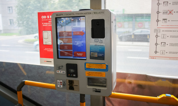 Tak wyglądały dotychczasowe biletomaty we wrocławskich tramwajach i autobusach.