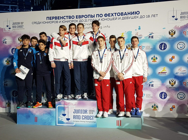 Reprezentacja Polski kadetów na trzecim stopniu podium mistrzostw Europy kadetów