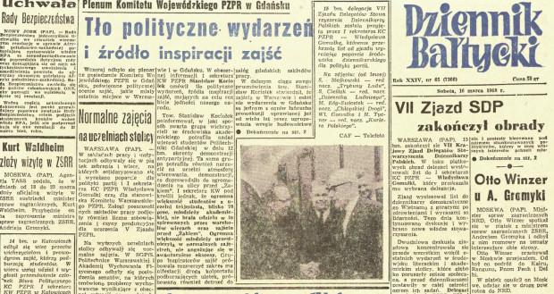 15 marca 1968 r. na ulicach Wrzeszcza. Zdjęcia ze zbiorów Archiwów IPN w Gdańsku.